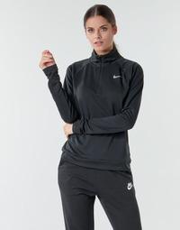 textil Dame Langærmede T-shirts Nike W NK PACER HZ Sort