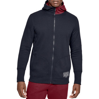 textil Herre Sweatshirts Under Armour Baseline Fleece FZ Hoodie Sort