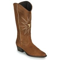 Sko Dame Chikke støvler Fericelli NISCOME Kamel / Guld