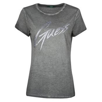 textil Dame T-shirts m. korte ærmer Guess SS CN IVONNE TEE Sort