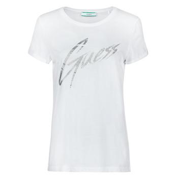 textil Dame T-shirts m. korte ærmer Guess SS CN IVONNE TEE Hvid