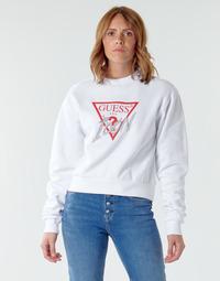 textil Dame Sweatshirts Guess ICON FLEECE Hvid