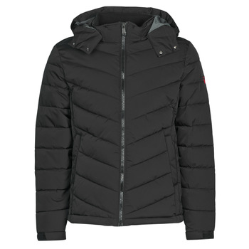 textil Herre Dynejakker Guess STRETCH PUFFA HOODED Sort