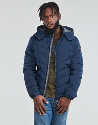 textil Herre Dynejakker Guess STRETCH PUFFA HOODED Marineblå