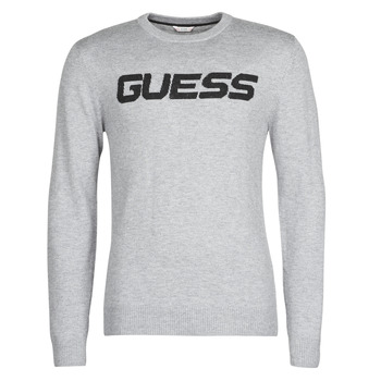 textil Herre Pullovere Guess LOGO SWEATER Grå