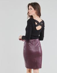 textil Dame Toppe / Bluser Guess AYADA Sort