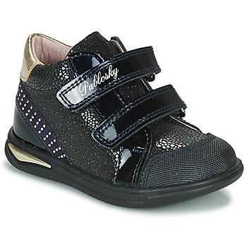 Sko Pige Høje sneakers Pablosky 87529 Marineblå