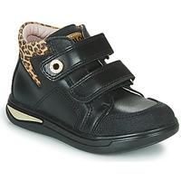 Sko Pige Høje sneakers Pablosky 490611 Sort / Leopard