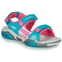 Sko Børn Sportssandaler Kangaroos Sandalshine Blå / Pink