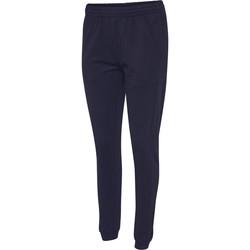 textil Dame Træningsbukser Hummel Pantalon femme  hmlgo cotton bleu marine