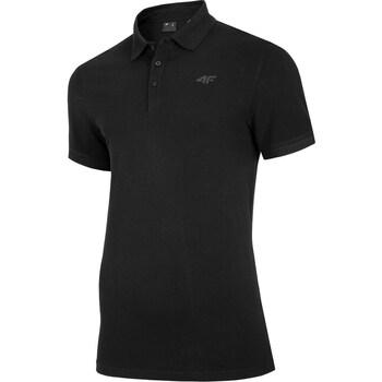 textil Herre Polo-t-shirts m. korte ærmer 4F TSM008 Sort