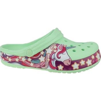 Sko Børn Klipklapper  Crocs Fun Lab Unicorn Band Clog Grøn, Pink