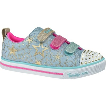 Sko Børn Lave sneakers Skechers Sparkle Litestars The Limit Azurblå, Pink