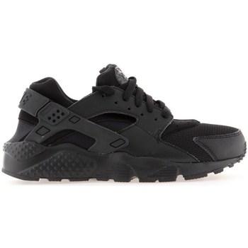 Sko Dreng Løbesko Nike Huarache Run GS Sort