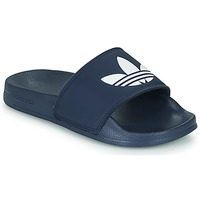 Sko Børn Lave sneakers adidas Originals ADILETTE LITE J Marineblå / Hvid