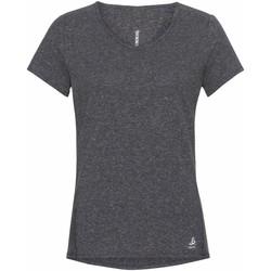 textil Dame T-shirts m. korte ærmer Odlo T-shirt femme  Lou Linencool gris