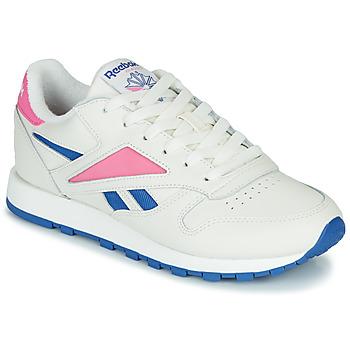 Sko Lave sneakers Reebok Classic CL LEATHER MARK Hvid / Pink