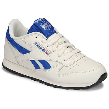 Sko Børn Lave sneakers Reebok Classic CLASSIC LEATHER Hvid / Blå