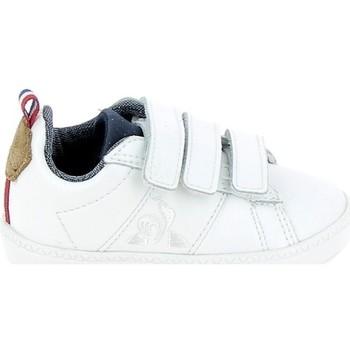 Sko Børn Lave sneakers Le Coq Sportif Courtclassic BB Blanc Marron Hvid