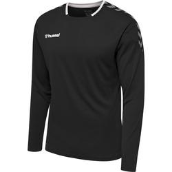 textil Herre Langærmede T-shirts Hummel Maillot  manches longues hmlAUTHENTIC Poly noir/blanc