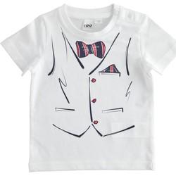 textil Dreng T-shirts m. korte ærmer Ido 4J692 Bianco
