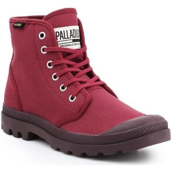 Sko Herre Høje sneakers Palladium Manufacture Pampa HI Oryginale 75349-604-M burgundy