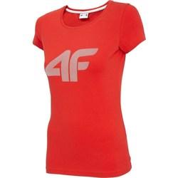 textil Dame T-shirts m. korte ærmer 4F TSD005 Rød