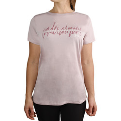 textil Dame T-shirts m. korte ærmer Under Armour Tech Script Graphic SSC Tee 1351964-667 Pink