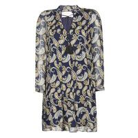 textil Dame Korte kjoler Moony Mood LONI Marineblå / Flerfarvet