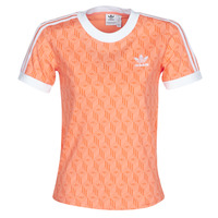 textil Dame T-shirts m. korte ærmer adidas Originals 3 STRIPES TEE Orange