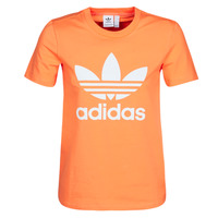 textil Dame Sweatshirts adidas Originals TREFOIL TEE Orange
