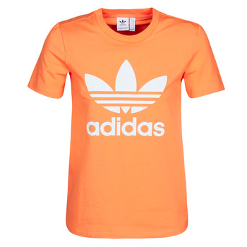 textil Dame Sweatshirts adidas Originals TREFOIL TEE Orange