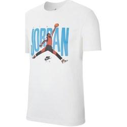 textil Herre T-shirts m. korte ærmer Nike Jordan Jumpman Photo Tee Hvid, Blå