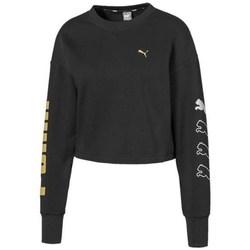 textil Dame Sweatshirts Puma Rebel Crew Sweat TR Sort