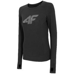 textil Dame Langærmede T-shirts 4F TSDLF001 Sort