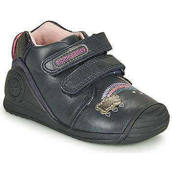 Sko Pige Lave sneakers Biomecanics BOTIN TWIN Marineblå