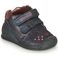 Sko Pige Lave sneakers Biomecanics BOTIN ELASTICO Marineblå