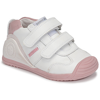 Sko Pige Lave sneakers Biomecanics BIOGATEO SPORT Hvid / Pink