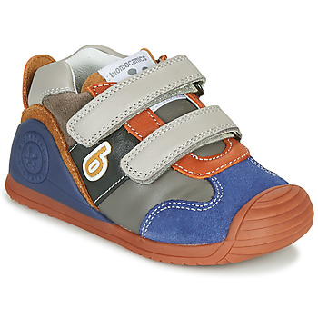 Sko Dreng Lave sneakers Biomecanics ZAPATO SPORT VELCRO Grå / Blå / Orange