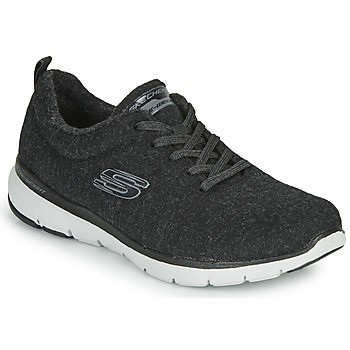 Sko Dame Fitness / Trainer Skechers FLEX APPEAL 3.0 PLUSH JOY Sort