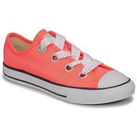 Sko Pige Lave sneakers Converse CTAS BIG EYELET OX LAVA GLOW/WHITE/BLACK Pink