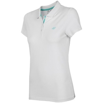 textil Dame Polo-t-shirts m. korte ærmer 4F TSD007 Hvid