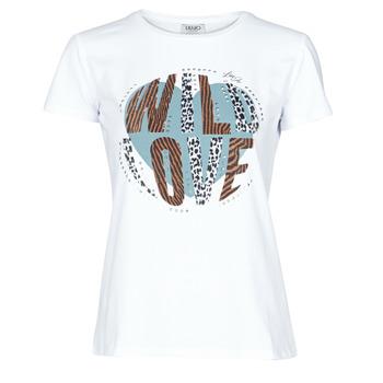 textil Dame T-shirts m. korte ærmer Liu Jo WF0098-J5003 Hvid
