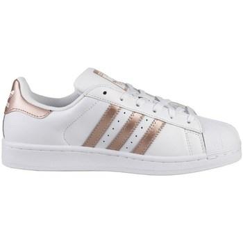 Sko Dame Lave sneakers adidas Originals Superstar W Hvid,Guld