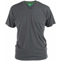 textil Herre T-shirts m. korte ærmer Duke Signature-2 Charcoal Melange