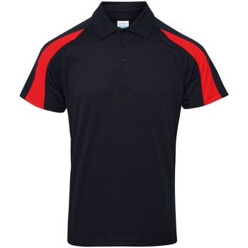 textil Herre Polo-t-shirts m. korte ærmer Awdis JC043 French Navy/Fire Red