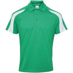 textil Herre Polo-t-shirts m. korte ærmer Awdis JC043 Kelly Green/Arctic White