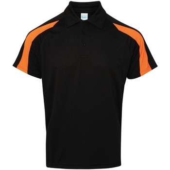 textil Herre Polo-t-shirts m. korte ærmer Awdis JC043 Jet Black/Electric Orange