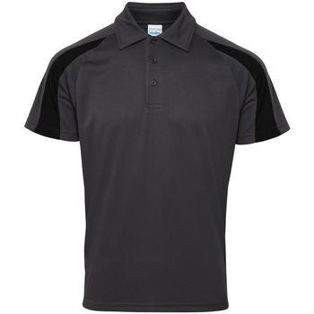 textil Herre Polo-t-shirts m. korte ærmer Awdis JC043 Charcoal/Jet Black