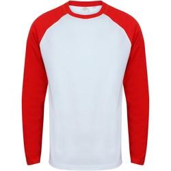 textil Herre Langærmede T-shirts Skinni Fit SF271 White / Red